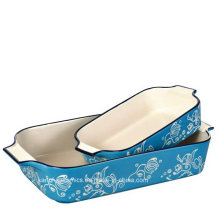 Chinese Design Hand-Painting Color Glazed Bakeware