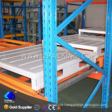 Nanjing jracking 1500kg per pallet used push back shelf