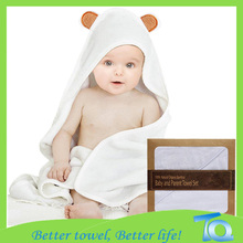 Bamboo Baby Hooded Towel With Bear Ears
