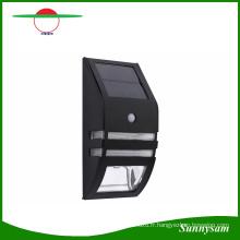 Imperméable à l'eau 2 LED 120lm PIR Solaire Motion Sensor Lampe Jardin Cour Extérieur Mur Pathway Balcon Porche Lumières