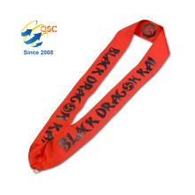 Logotipo de encargo de la moda que imprime la cuerda de nylon del cuello del tenedor de la tarjeta de identificación