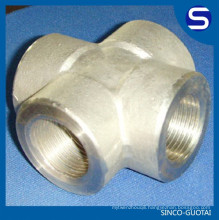 ASME B16.11 Stainless Steel 3000# forged steel pipe cross