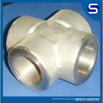 ASME B16.11 Stainless Steel 3000# forged steel pipe cross