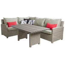 Muebles al aire libre de mimbre de la rota seccional salón sofá conjunto jardín