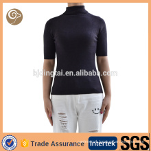 Short sleeve knitted fashion woolen sweater designs for ladies