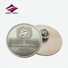 Abstract logo wheat round shape metal lapel badge