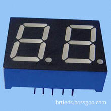 Dual-digit 7 Segment LED Display, 0.50-inch Blue Color, Common Anode, White Segment and Black Face
