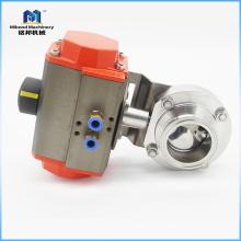 Válvula eléctrica del actuador de la mariposa del acero inoxidable sanitario del proveedor de China