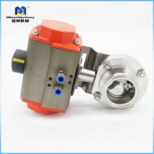 China Supplier Sanitary Stainless Steel Electric Butterfly actuator Valve