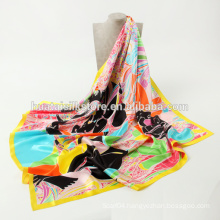 2014 summer hot sell square scarf floral design