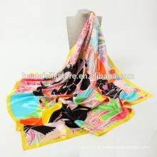 Diseño floral de la bufanda del cuadrado de la venta caliente 2014 del verano