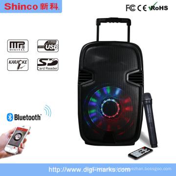 Altofalante plástico móvel portátil do DJ do trole sem fio popular de Bluetooth