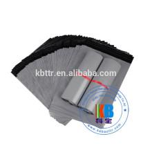 saco impresso esmagado PE PEBPE material eco-friendly prata cinza plástico mailer envio saco poli