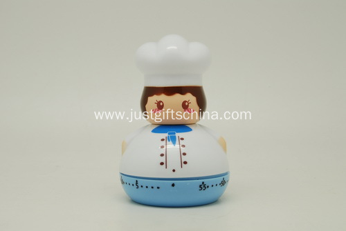 Promotional ABS Kitchen Timer - Female Chef