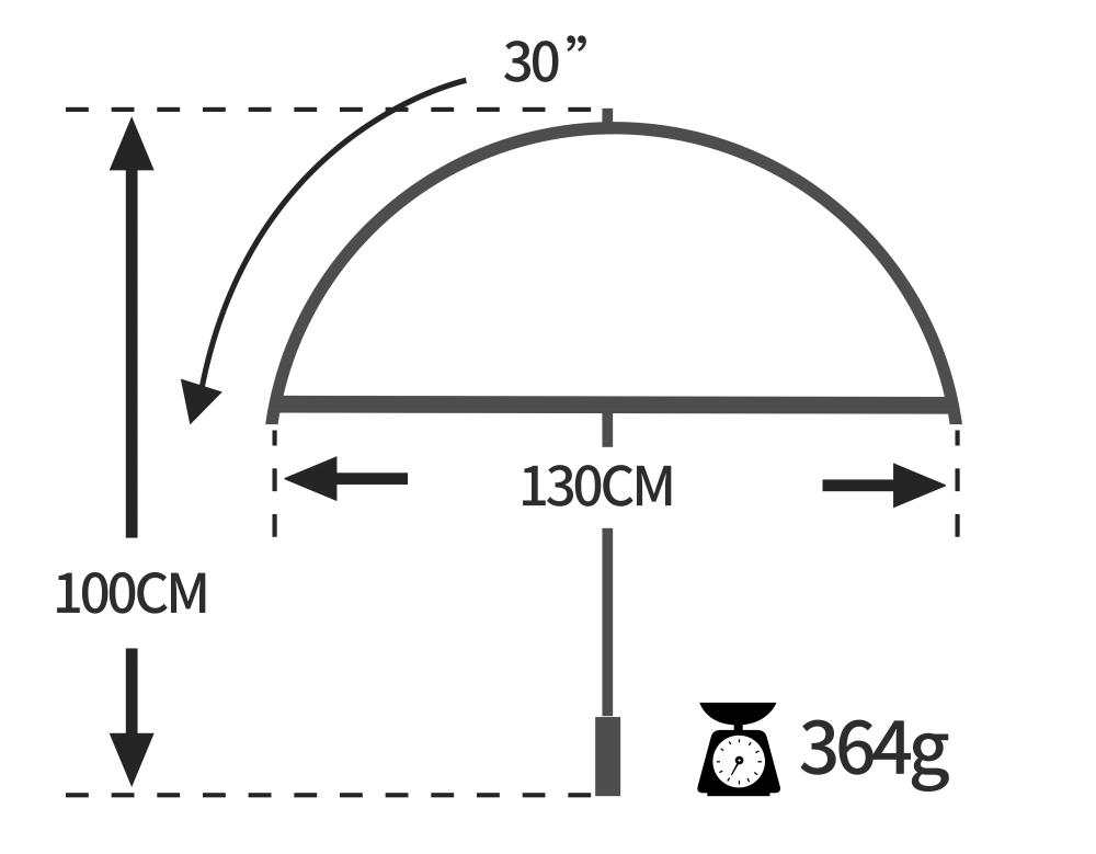 Ultra-Light-Golf-Umbrella-size