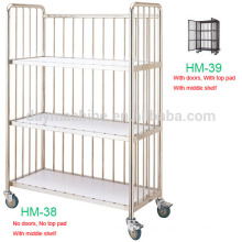 2015 commercial best laundry cart, all kinds buy laundry cart,hot sale clean linen trolley