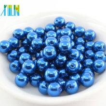 La cuenta floja plástica ambiental podría personalizar el agujero recto la venta al por mayor grande todo tipo de perlas redondas de la perla del ABS