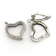 Floating Glass Open Magnetic Memory Living Locket for Jewelry