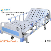China Suministro Hospital Muebles eléctricos 2-Crank Shake Medical Bed
