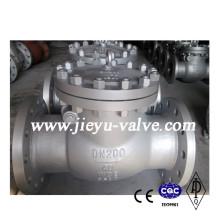 DIN Pn40 Dn200 válvula de retenção de aço carbono Swing