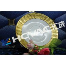 Máquina de cerámica de la capa del vacío del vajilla PVD de Hcvac / máquina de galjanoplastia de cerámica del vajilla