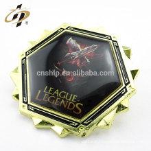 Atacado barato liga de zinco macio esmalte metal lapela pin com diamante