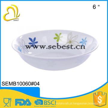 """Artigos novos do houseware do estilo 6 """"bacia de sopa plástica da melamina redonda"""
