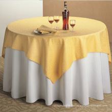 Rabatt-Qualität 100% Polyester Restaurant Tischdecke