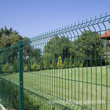 Low price PVC-coated metal fence with triangle bends
