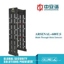 Sensibilidade ajustável ao ar livre 24 Zonas Walk Through Metal Detector