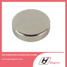 Zn Coating High Precision Neodymium N52 Disc Magnet for Motor
