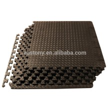 Black Puzzle Exercise Mat EVA Foam Interlocking TilesPuzzle
