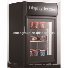 - 18 Celsuis degree Glass door freezer for ice cream