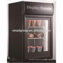 - 18 Celsuis degree Glass door freezer for ice cream