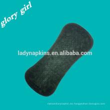 negro panty liner almohadillas sanitarias de algodón resistente al agua transpirable noche pesada para mujeres