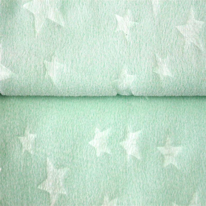 Embossed Jacquard Polar Fleece Baby Fabric