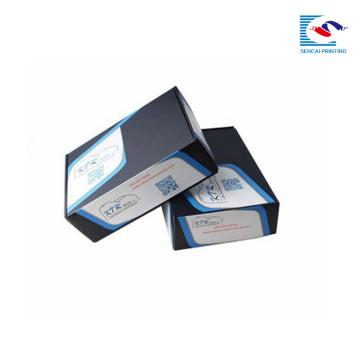 logotipo personalizado al por mayor impreso negro corrugado cajas de envío