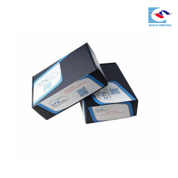 custom wholesale logo printed black corrugated shipping boxes