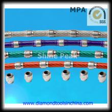 Serra de fio de diamante para corte de concreto