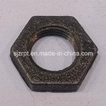 """Accesorios de tubería de hierro maleable 1/2 """"Black Locknut"""