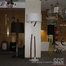 Lampe de plancher debout en bois décorative antique d'hôtel antique