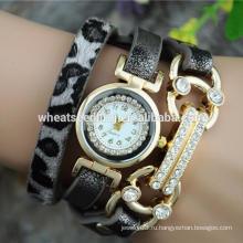 Великолепный браслет для женщин из змеиной кожи с жемчужиной для часов