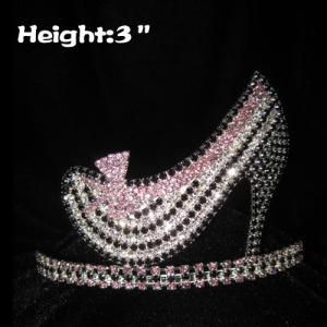 3inch Crystal High Heel Shoe Crown