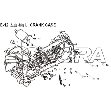 E-12 L. CRANK CASE XS150T-8 CROX Per SYM Spare Part Top Quality