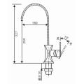 Hochwertiger Wasserhahn Messing Küchenspüle Mischbatterie drehbar