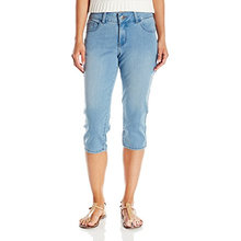 Indigo Damen Ultra Soft Denim Blended Capri Jean