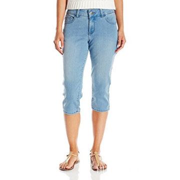 Indigo Women's ultrazachte denim blended Capri Jean