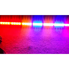 32W 96W impermeable doble color policía coche de bomberos ambulancia coche LED interno asesor de advertencia LightBar