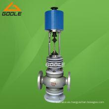 Válvula de control eléctrica de tres vías (3 vías) de alta temperatura (GAZDLX. GAZDLQ)