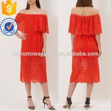 Ярко-красный с плеча платье Производство Оптовая продажа женской одежды (TA4049D)